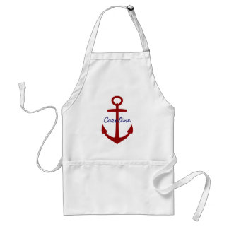 Nautical Red Anchor  Personalized Standard Apron