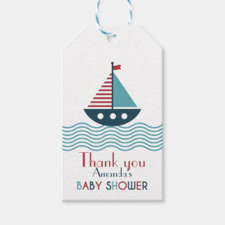 Nautical red and blue boat BABY SHOWER