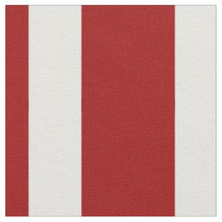 Nautical Red and White Stripe Fabric