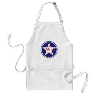Nautical Red White and Blue Star Personalized Standard Apron