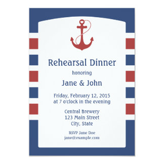 Nautical Rehearsal Dinner Card