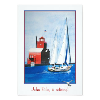 Nautical Retirement Party Card