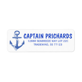 Nautical Return Address Label