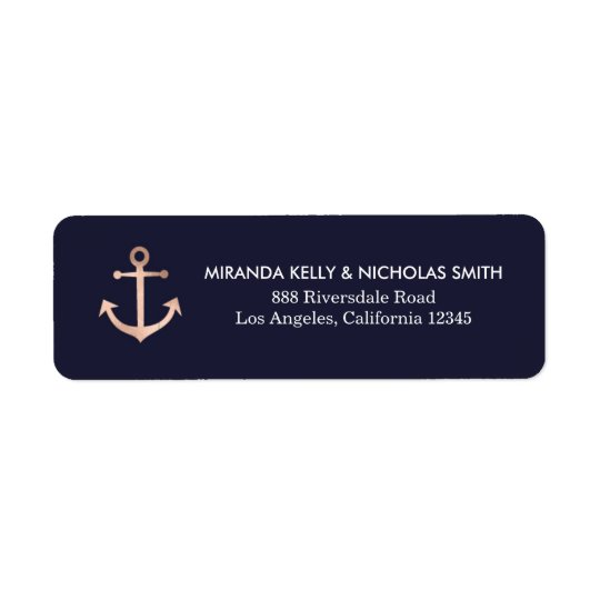 Nautical return address labels, nautical address return address label