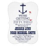 Nautical Romantic Red Bird Navy Anchor Wedding
