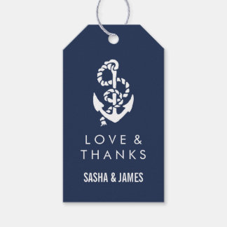 Nautical Rope & Anchor Thank You Favor Tags