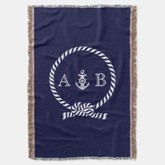 Nautical Rope and Anchor Monogram