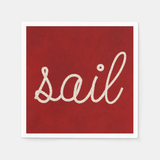 Nautical rope for sail disposable serviettes