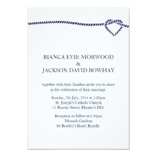 Nautical Rope Invitation | Navy