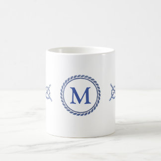 Nautical Ropes with Monogram Coffee Mug