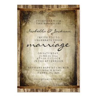 Nautical Rustic Wood Wedding Style 13 Cm X 18 Cm Invitation Card