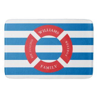Nautical Safe Circle Monogram Large Bath Mat