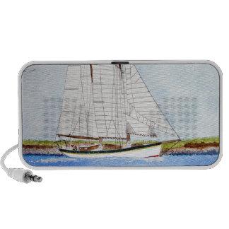 Nautical Sail Boat Sea Ocean Pirate Yacht Speakers