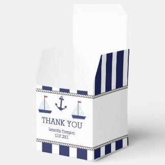 Nautical Sail Boats Baby Shower Favor Box