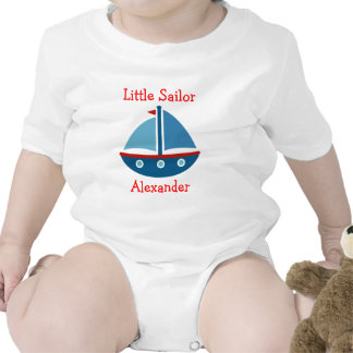 Nautical sailboat baby bodysuit for little sailor
