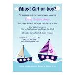 Nautical Sailboat Gender Reveal Gender Neutral Custom Invitations