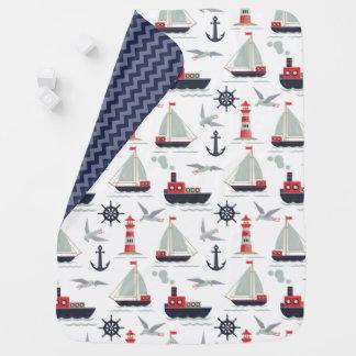 Nautical Sailboat Sailor Baby Boy Nursery Decor Baby Blanket