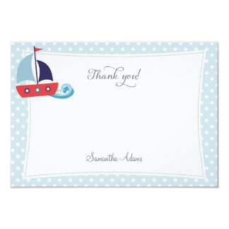 Nautical Sailboat Thank You Card 9 Cm X 13 Cm Invitation Card