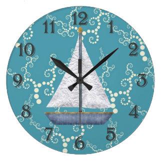 Nautical Sailboat Wall Clock
