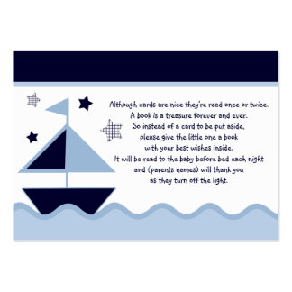 Nautical Sailboats Navy  Favor/Tags Business Card Template