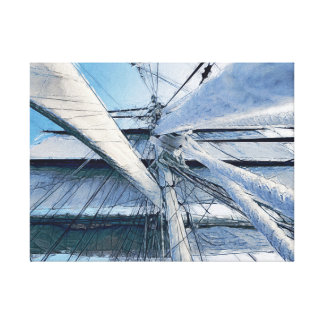 Nautical Sailing Adventure Canvas Print