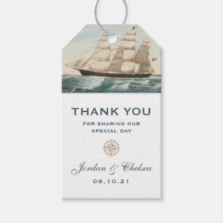 Nautical Sailing Clipper Ship | Classic Thank You Gift Tags