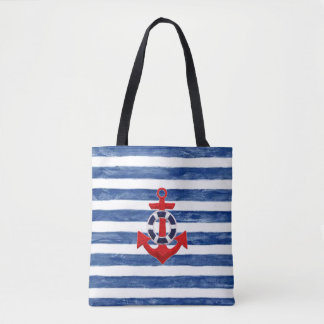 Nautical Sailing inspired tote bag