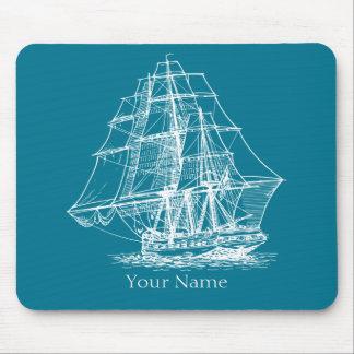 Nautical Sailing Tall Ship Vintage Mouse Pad
