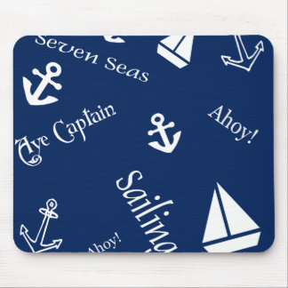 Nautical Sailing Theme Mousepads