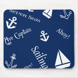 Nautical Sailing Theme Mousepads