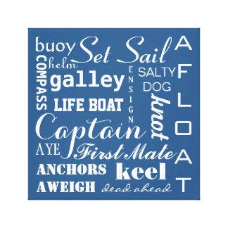 Nautical Sailing Typography Canvas Print