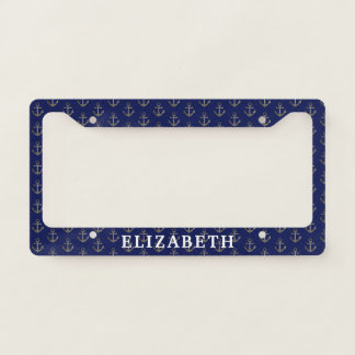 Nautical Sailing Women's Name License Plate Licence Plate Frame