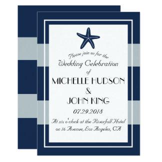 Nautical Sailor Beach Starfish Wedding Invitations