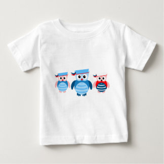 Nautical Sailor Owls Baby T-Shirt
