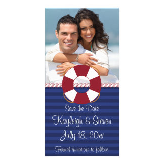 Nautical Save the Date Personalized Photo Card