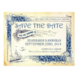 nautical save the date POSTCARDS