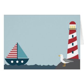 Nautical scene card