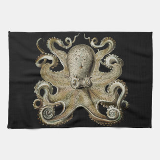 Nautical sea  Octopus decor kitchen towel
