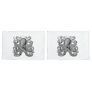 Nautical sea Octopus decor pillow cases grey