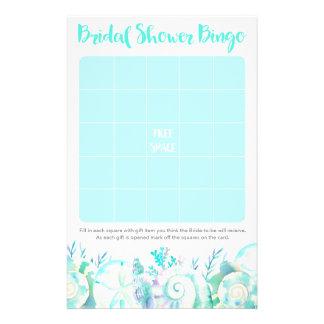 Nautical Seashell Bridal Shower Bingo 14 Cm X 21.5 Cm Flyer