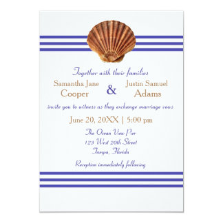Nautical Seashell - Wedding Invitation
