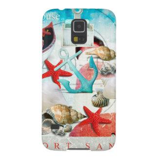 Nautical Seashells Anchor Starfish Beach Theme Cases For Galaxy S5