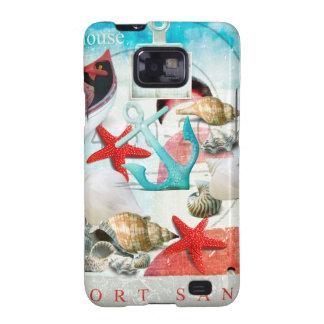 Nautical Seashells Anchor Starfish Beach Theme Galaxy S2 Case