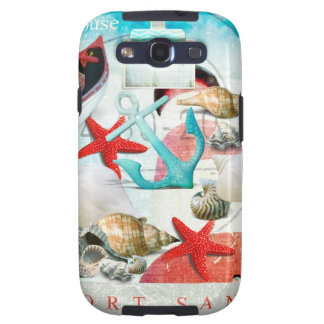 Nautical Seashells Anchor Starfish Beach Theme Samsung Galaxy SIII Cases