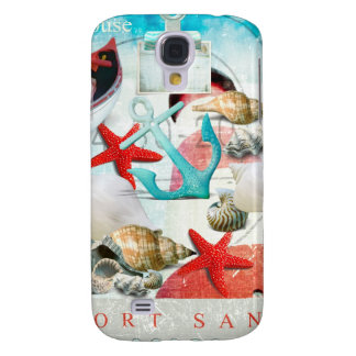Nautical Seashells Anchor Starfish Beach Theme Galaxy S4 Covers