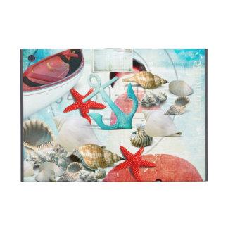 Nautical Seashells Anchor Starfish Beach Theme Covers For iPad Mini