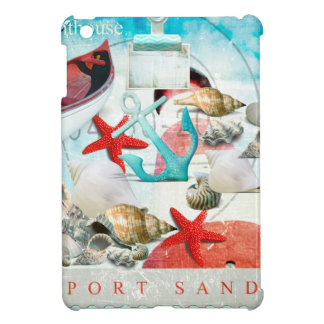Nautical Seashells Anchor Starfish Beach Theme Case For The iPad Mini