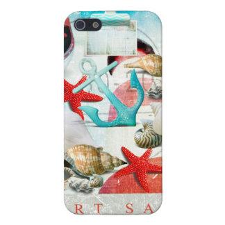 Nautical Seashells Anchor Starfish Beach Theme Case For iPhone 5