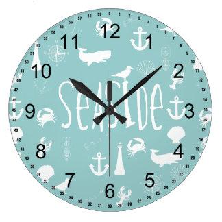 Nautical Seaside Large Clock