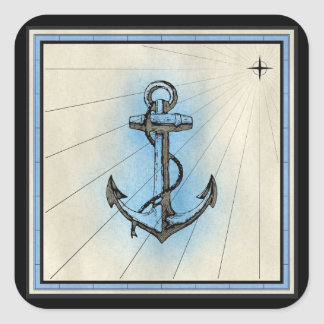 nautical ship anchor stickers